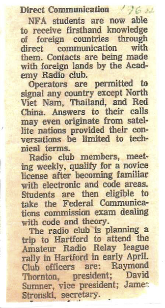1964 W1HLO News Article